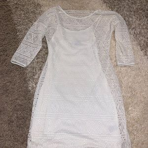 EXPRESS WHITE LACE DRESS S